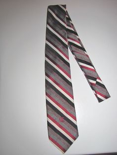 Oleg Cassini Necktie Designed Exclusively For Lansons Florida Multicolor Stripes #OlegCassini #NeckTie