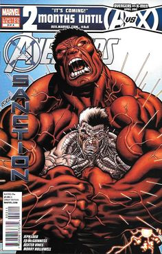 """Avengers: X-sanction Print- Cable Rumbles with the Red Hulk As His Fight to Save the Future Carries On!"""" Avengers: X-sanction Print- Cable Rumbles with the Red Hulk As His Fight to Save the Future Carries On! Marvel Dc Comics, Comics Anime, Hq Marvel, Marvel Heroes, Cosmic Comics, Marvel Comic Character, Comic Book Characters, Comic Books, Univers Marvel"""