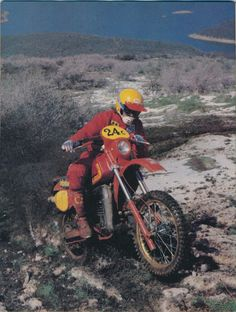 1982 Maico 490E. This is from a Dirt Bike magazine photo shoot. Tom Webb at the controls.