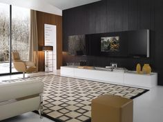 Modern Tv Room modern tv wall unit comp. 228 woodpresotto, italy from