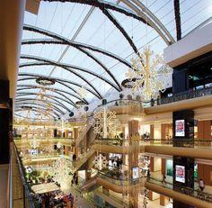 Commercial Christmas Displays London UK hanging displays