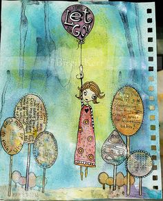Art Journaling - I so want to be the person who does this