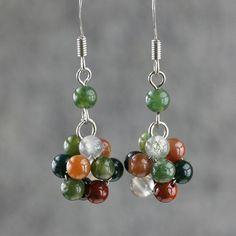 Agate stone drop earrings Free US Shipping door AnniDesignsllc, $12.95