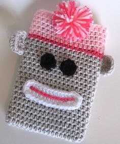 SOCK MONKEY EREADER CASE--inspiration