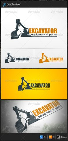 Excavator  Logo  EPS Template • Only available here! → https://graphicriver.net/item/excavator-/4515010?ref=pxcr