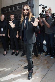 HQ.- Jared Leto.- Paris Fashion Week.- Giorgio Armani Prive shos.- Arrivals at Théâtre National de Chaillot.- 08-07-2014