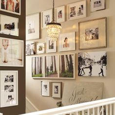 How To Create a Staircase Gallery of Wedding Photos