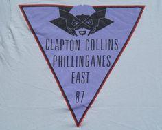 Vintage 1987 Eric Clapton Phil Collins Tour Gray T Shirt S/L