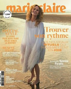 Vanessa Paradis, Marie Claire Magazine, Marie Claire France, American Film Festival, French People, Cover Up, Actors, Celebrities, September