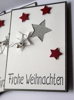 creation de noel Sterne Sterne The post Sterne appeared first on Jasmine Lambrick. Christmas Cards To Make, 1st Christmas, Handmade Christmas, Christmas Crafts, Karten Diy, Star Cards, Winter Cards, Diy Cards, Scrapbook Cards