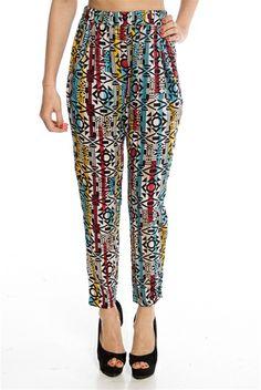 Defend the Trend Tribal Print Pants - Multi