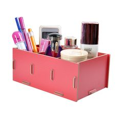 Great prices on your favourite Home brands, and free delivery on eligible orders. Wooden Organizer, Wooden Storage Boxes, Desk Tidy, Office Desk, Desktop Storage, Wooden Desk, Picture Sizes, Desk Organization, Jewellery Storage