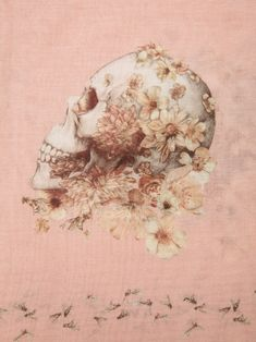 ☆ Alexander Mcqueen Floral Skull Scarf ☆