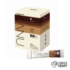 KANU Primium coffee mix, Kanu double shot Latte 13.5g*50ea- 50sticks Coffee Mix, Coffee Latte, Beverage Packaging, Coffee Packaging, Coffee Sachets, Milk Photography, Fat Free Milk, Double Shot, Premium Coffee