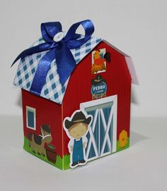 Celeiro Fazendinha Crazy Birthday, Cowboy Birthday, Farm Birthday, Packaging Box, Farm Unit, Farm Party, Farm Theme, Ideas Para Fiestas, Animal Party