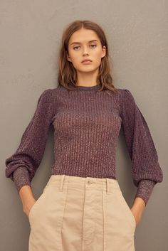 SWEATER LEXI SWEATERS Buffy, Warm Sweaters, Cashmere Sweaters, Jumpers For Women, Sweaters For Women, Backless Sweater, Metallic Yarn, Classic Looks, Soft Classic