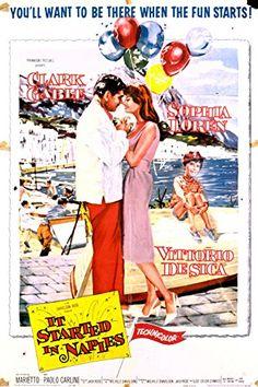 Clark Gable, Sophia Loren, Vittorio De Sica, Paolo Carlini, and Marietto in It Started in Naples (1960)