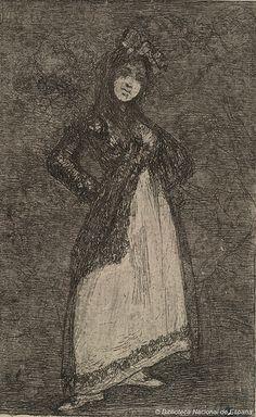 Maja sobre fondo oscuro Autor: Goya, Francisco de (1746-1828)