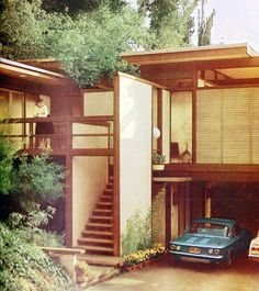 ;; mid century modern! <3 love everything about this, even the cars!