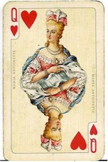 Marie Antoinette, Queen of Hearts antique playing card, via olderrose: January 2009