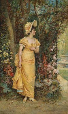 Hans Zatzka (Austrian, 1859-1945) In Joyful Expectance