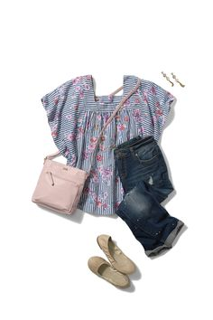 4fafbf9a94436 Loving this casual yet chic day look from Time and Tru  sponsored   timeandtru
