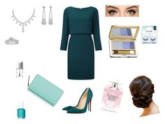 """""""Party"""" by iftin-111 on Polyvore featuring Christian Louboutin, Tiffany & Co., Christian Dior, Essie, Estée Lauder, eylure, Victoria's Secret and Kate Spade"""