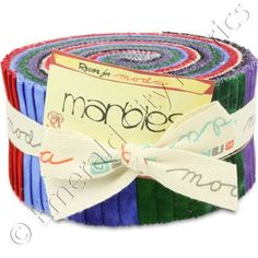 Moda Marbles Bright Jelly Roll 40 2.5x44-inch (6.4x112cm) Precut Cotton Fabric Strips