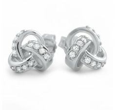 Love knot earrings. One of our top sellers