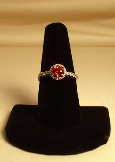 Diamond Cut Padparadscha Ring by KaysCreations2 on Etsy, $147.77
