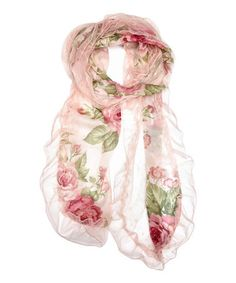 Loving this Pink Rose Scarf on #zulily! #zulilyfinds