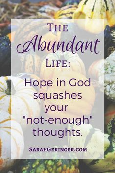 Feeling like you never have enough? That you're never good enough? God's #abundance can transform your thinking. #christianencouragement #spiritualgrowth #trustingingod #biblestudy #inspirational #christianliving