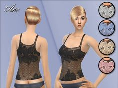 The Sims Resource: Rose top by Altea127 • Sims 4 Downloads