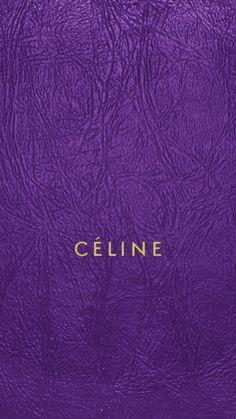 セリーヌ/キラキラロゴパープルレザー iPhone壁紙 Wallpaper Backgrounds iPhone6/6S and Plus CÉLINE