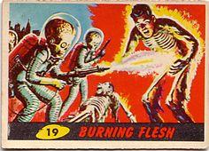 Mars Attacks bubblegum card  1962,