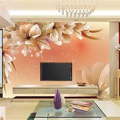 Shop our best value Modern Wallcovering on AliExpress. Check out more Modern Wallcovering items in Home Improvement, Home & Garden! And don't miss out on limited deals on Modern Wallcovering! Wallpaper For Home Wall, Luxury Wallpaper, Wallpaper Wallpapers, Custom Wallpaper, Bedroom Wall Designs, Bedroom Murals, Bedroom Sofa, Flowers Photos Wallpaper, Flower Wallpaper