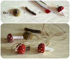 Kaunis pieni elämä: Syyspäiviä  Mushroom necklaces