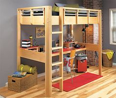 Ordinaire Loft Bed Plan   Build A Space Saving Loft Bed An Idea To Give Kyle More Desk  Space