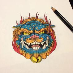 11430214_894680967244760_1461818948_n.jpg (640×640) Foo Dog Tattoo, Dog Tattoos, Tattoo Drawings, Hand Tattoos, Body Art Tattoos, Revelation Tattoo, Japanese Tattoo Designs, Buddha Tattoos, Asian Tattoos