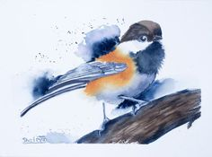 Buy Chickadee, Watercolor by Olga Shefranov on Artfinder. Discover thousands of other original paintings, prints, sculptures and photography from independent artists.
