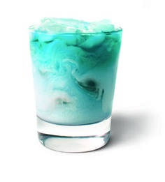 BLUE FROST (ADULT ONLY) 1 part UV Blue vodka, 1 part raspberry sherbet, 1 part sprite soda. Place Raspberry sherbet in a rocks or low ball glass, then add sprite & ice. Pour UV Blue slowly over top to give it the swirl effect. Uv Blue Drinks, Vodka Drinks, Party Drinks, Cocktail Drinks, Fun Drinks, Alcoholic Drinks, Drinks Alcohol, Mixed Drinks, Cocktail Recipes