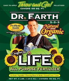 Dr. Earth 736P Life Organic All Purpose Fertilizer In Poly Bag, 4 Lb