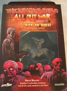 RICK ON HORSE & walker The Walking Dead: All Out War Miniatures Game Booster Box #Mantic