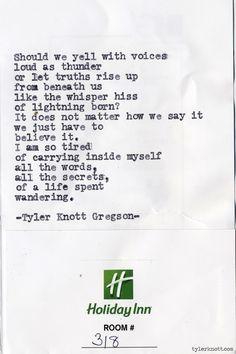 Typewriter Series #641 by Tyler Knott Gregson