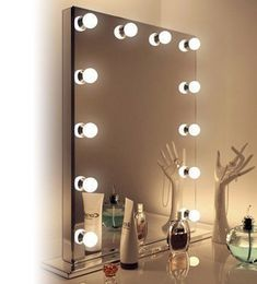 Wall Lamps Straightforward Diy Hollywood Style Led Mirror Light With Press Dimmer And Power Supply Makeup Mirror Vanity Led Light For Dressing Table As Effectively As A Fairy Does