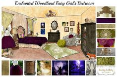 Enchanted Woodland Fairy Room by Living Lullaby Design. A free design for your use. Click on pin to see full design. #fairyroom #livinglullaby
