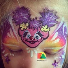 Kaleidoscope Arts Sesame Street Face Painting #facepaint #sesamestreet