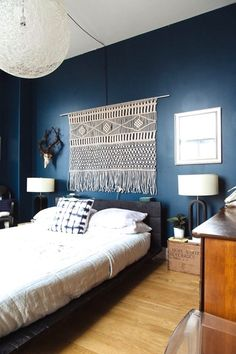 There's been a renewal of interest in the 1970s decorating phenomenon of woven wall hangings. Today it's called fiber art. These rooms showcase them well.