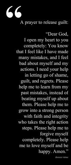 Forgive self