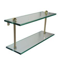 Allied Brass Mfg. Prestige Regal Double Glass Bathroom Shelf | ATG Stores